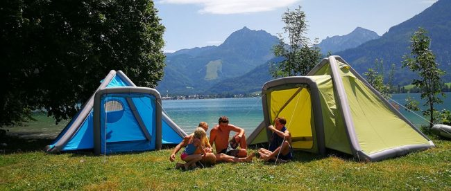 tente gonflabe camping